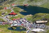 Balea Lake in Fagaras Mountains, Romania — Stock Photo