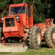 Heavy Tractor in the forest — Stock Photo