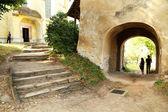 建筑细节在剌的中世纪城市,特兰西瓦尼亚 — 图库照片