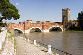 Medieval Castel Vecchio in Verona — Stock Photo