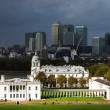 Greenwich and the Financial Center of London — Stock Photo