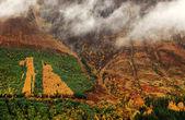 秋天的色彩,在高地 — 图库照片