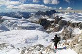 Winter alpine trekking — Foto Stock