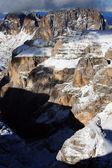 高山の冬の景色 — ストック写真