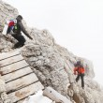Alpinist climbing — Stock Photo #37072631