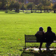 Couple on bench — Stock Photo #39180701