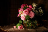 Bouquet of roses and jasmine — Stockfoto