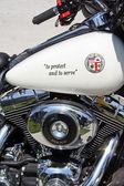 Los angeles police motor — Stock Photo