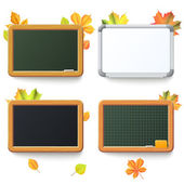 Set of school board on a white background. — Stock Vector