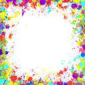 Bezešvé pozadí s barevné inkoustové skvrny, rámec pro text phot — Stock fotografie