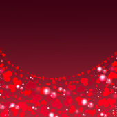 Valentine's day background with abstract hearts — Stock Photo