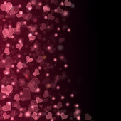 Flying hearts Valentine's day or Wedding background — 图库照片