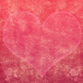 Pink lacy heart on wavy hair lines background — Stock Photo
