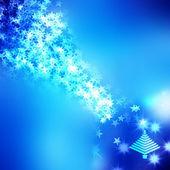Christmas background with Christmas tree — Stock Photo