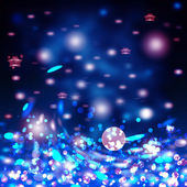 Abstract holiday background, beautiful shiny Christmas lights, g — Stock Photo