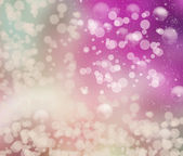 Festive winter abstract. background with bokeh lights and stars — Stockfoto