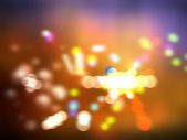 City lights blurred bokeh background — Stock Photo