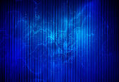 Digitally generated image of blue light and stripes moving fast  — Stock Photo