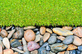 Stone and grass decor — Stock Photo