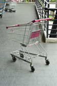 Full shopping grocery cart. — Stock Photo