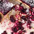 Fresh currant blueberry Pie with Oatmeal Crust — Stock Photo