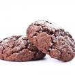 Chocolate cookies isolated on the white background — Stock Photo #25965789