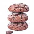 Stock Photo: Chocolate cookies isolated on the white background