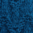 Blue knitting background texture. Knit woolen Fabric textile — Stock Photo