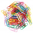 Colored paper clips. Isolated on white background — Stock Photo #29601253