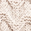 White knitting background texture. Knit woolen Fabric textile multicolor back. — Stock Photo #29601391
