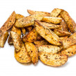French fries potato wedges in country styled  on white background — Zdjęcie stockowe