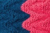 Colorful knitting background texture pink and blue color. — Stock Photo