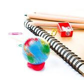 Back to school supplies with accessories. — Stock Photo