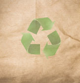 High resolution recycled brown cardstock with halftone — Stock Photo