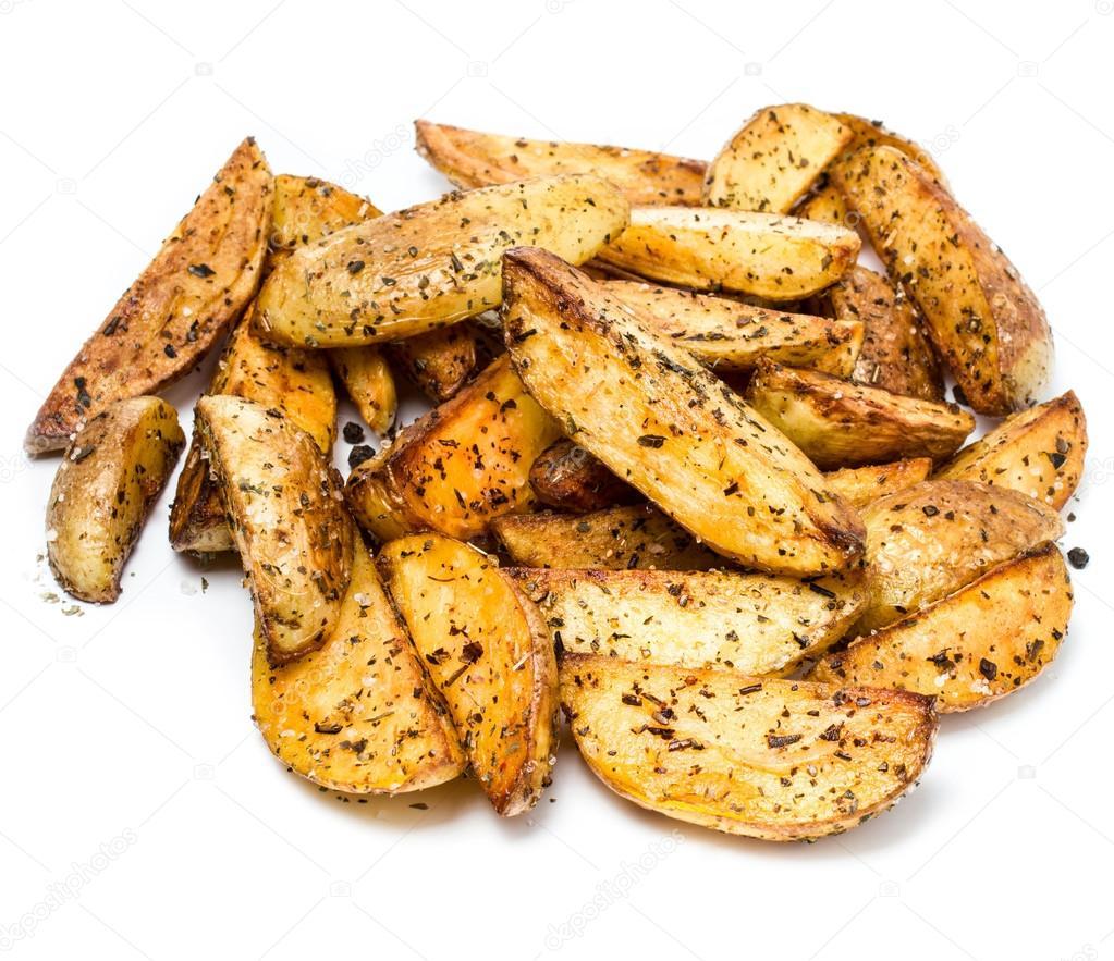 Batata frita batata cunhas no país denominado em fundo ...