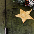 Christmas composition with decorations — Stock Photo