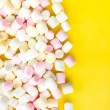 Stock Photo: Pile of small colored puffy marshmallows