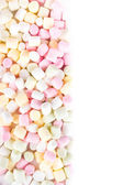 A pile of small colored puffy marshmallows may use as background — Stock Photo