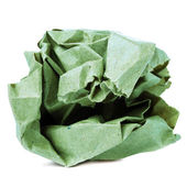 Crumpled colored recycled paper ball — Stock Photo