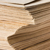 Huge Stack of Recycled Paper envelopes — Stock Photo