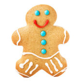 Gingerbread Man Christmas Cookie — Стоковое фото
