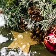 Christmas composition with decorations — Stock Photo #31300007