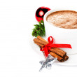Gingerbread Man and hot chocolate — Stock Photo