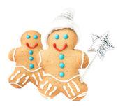 Gingerbread Man Christmas Cookie — Zdjęcie stockowe