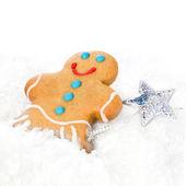 Vánoční cookie perník muž — Stock fotografie