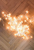 Lichterkette girlande — Stockfoto