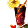 Red Hot Christmas mulled wine — Stock Photo #33898757