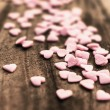 Valentines Day background with candy hearts. — Photo