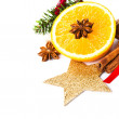 Christmas spices for hot mulled wine  — 图库照片