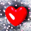 Stock Photo: Valentines Day background with Red Heart